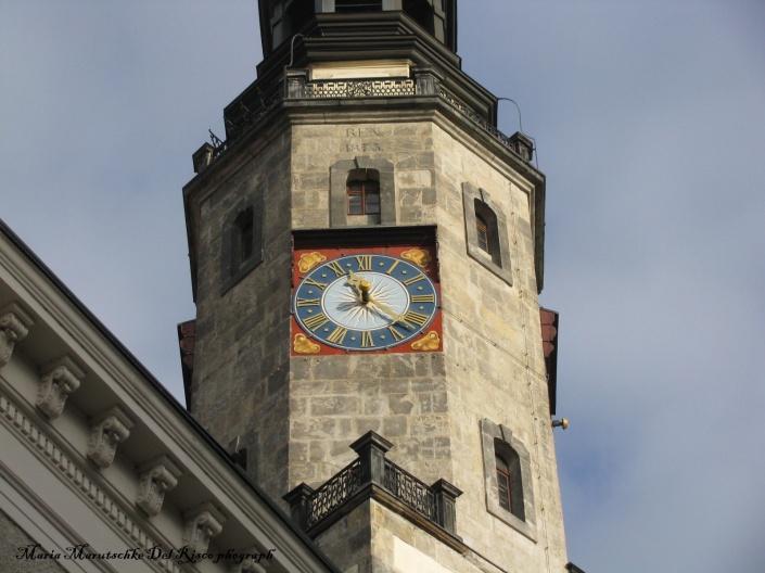Vista de una de las torres de la iglesia de la Trinidad en Görlitz.