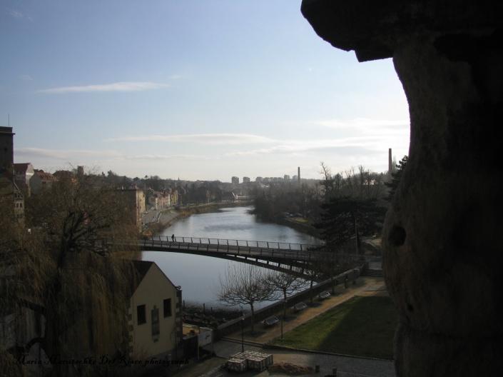 Vista de la ciudad de Görlitz, al fondo se puede ver el punte que divide la parte alemana de la polaca.