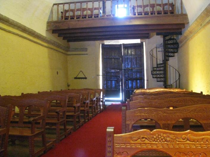 Vista de la pequena capilla de la casona