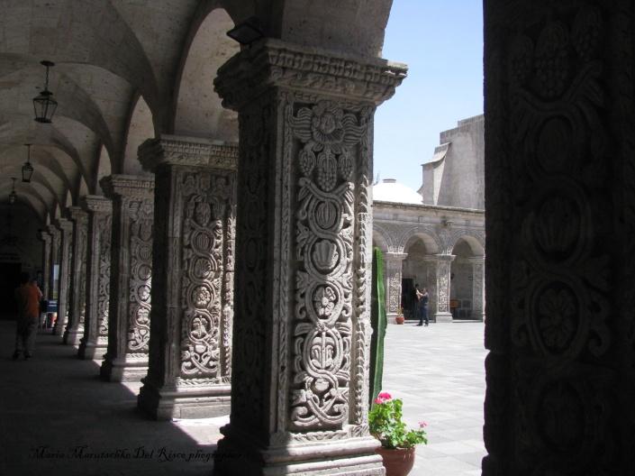 Detalle de los arcos decorados.